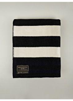 Indigofera Prima smokestack Wool Blanket