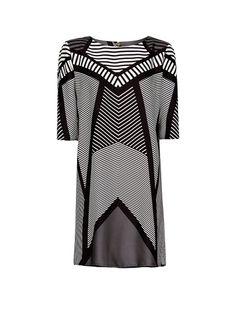 MANGO - Vestido estampado op-art
