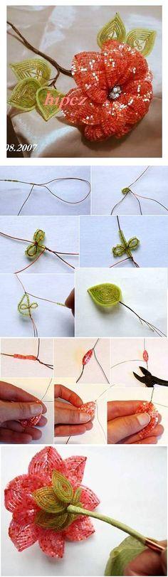 DIY Beads Apricot Flower DIY Beads Apricot Flower