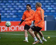 Frank Lampard, Fernando Torres — en Stamford Bridge. Training