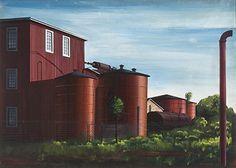 Edmund D. Lewandowski (1914-1998) Farm Buildings, 1940 Watercolor and gouache on paper, 18 3/4 x 26 1/4 in.