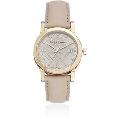 Burberry The City Diamond Index Watch ($950) ❤ liked on Polyvore featuring jewelry, watches, accessories, bracelets, bijoux, burberry, water resistant watches, burberry jewelry, leather strap watches and burberry watches