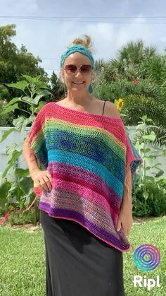 Fingerless Gloves Crochet Pattern, Crochet Shawl, Hand Crochet, Crochet Stitches, Crochet Blouse, Knit Crochet, Boho Crochet Patterns, Knitting Patterns, Mode Crochet