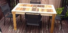 Ana White | Modified Outdoor Pallet patio table - DIY Projects