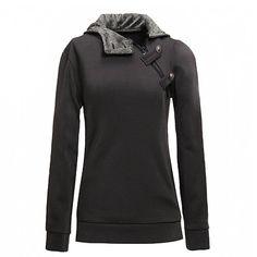 PATTONJIOE Women's Korean Pullover Hoodie Jumper Sweater Jacket Dark Gray 2XL