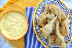 fried artichokes with aioli dip