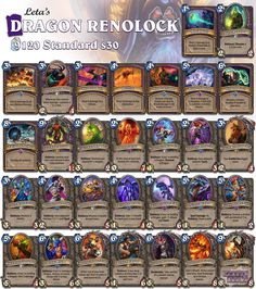 With all them Zoo decks I would almost forget Renolock. Today with dragons! #Hearthstone #StandardWarlock