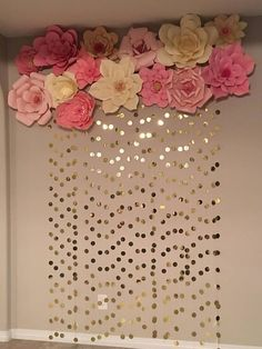 New baby diy ideas wall art 34 Ideas Birthday Decorations, Wedding Decorations, Wedding Backdrops, House Warming Party Decorations, Party Wall Decorations, Party Backdrops, Diy Baby Shower Decorations, Wedding Ideas, Decor Wedding