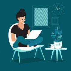 8 Creative Home Based Business Ideas To Make Money Online Flat Illustration, Character Illustration, Graphic Design Illustration, Digital Illustration, Vector Illustrations, Creative Skills, Creative Home, Design Innovation, Web Design