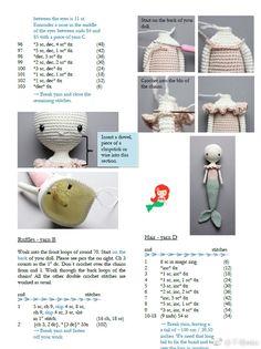 1 million+ Stunning Free Images to Use Anywhere Crochet Amigurumi Free Patterns, Crochet Doll Pattern, Easy Crochet Patterns, Crochet Dolls, Crochet Teddy, Knit Or Crochet, Crochet Crafts, Crochet Projects, Mermaid Toys