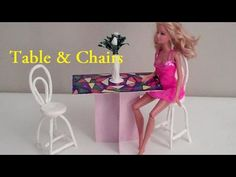 How to Make Table and Chairs for Dolls - YouTube