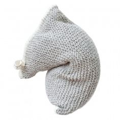 NEST knitted bean bag - light grey