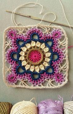Crochet cuadrado de la abuela