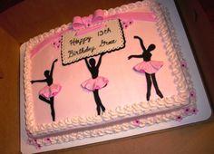 Ballerina silhouette cake #ballet #dance #cake Ballet Birthday Cakes, 14th Birthday Cakes, Ballet Cakes, Dance Cakes, Dance Party Birthday, Happy 13th Birthday, Gymnastics Birthday, Ballerina Birthday Parties, Ballerina Cakes