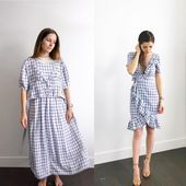 Thrift store diy clothes, thrift store refashion, diy clothes ref Thrift Store Diy Clothes, Thrift Store Refashion, Refashion Dress, Diy Clothes Refashion, Diy Vetement, Diy Clothes Videos, Make Your Own Clothes, Diy Fashion, Fashion Outfits