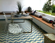 This handsome line of Encaustic cement tiles from Terrazzo Tiles are handmade in Morocco using hydraulic presses in a traditional method. The company has a large collection of molds, including Flor...