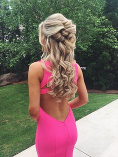 Half up, half down.  Prom Hair