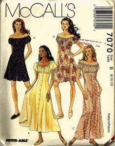 McCalls 7070 Dress Pattern 10-14