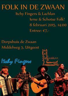 Schotse & Ierse Folk - met Westzaanse inbreng - in Uitgeest. 8 februari 2015.