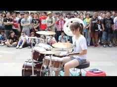 Best drummer girl ever playing Fantastic Baby - BigBang Korean Girl, Asian Girl, Girl Drummer, Trommler, Steve Moore, Funeral Costs, Drum Cover, Street Musician, Street Performance