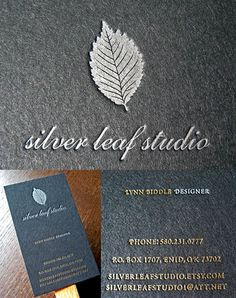 Black Silver And Gold Letterpress Business Card For A Jewelry Designer