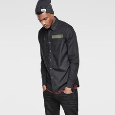 G-Star RAW   Men   シャツ   Powel 3d Shirt , Black