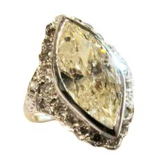 4.5 ct Marquise cut diamond ring   From a unique collection of vintage engagement rings at http://www.1stdibs.com/jewelry/rings/engagement-rings/