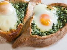like a deconstructed quiche! spinach, cheese & egg