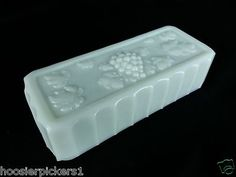 Westmoreland Milk Glass Paneled Grape Rectangle Butter Dish Lid only