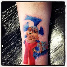 My awesome new #tattoo #labyrinth worm