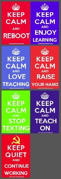 Keep Calm Teaching Posters Collection — Edgalaxy