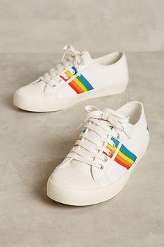 Anthropologie Gola Rainbow Stripe Sneakers