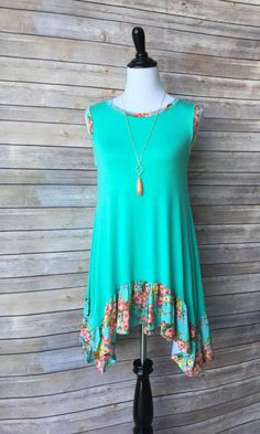 Jade Rose Sleeveless Tunic from Paisley Grace Boutique