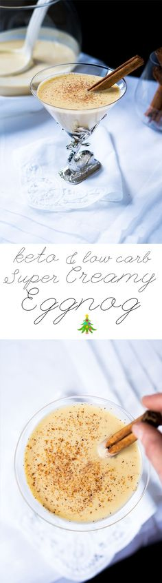 Low Carb & Keto Eggnog Suuuper Creamy & 2g net carbs #ketoeggnog #lowcarbeggnog