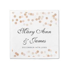 Wedding Faux Copper Foil Glitter Lights Paper Napkin