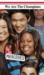 """You Gleeks are awesome! Here is """"We Are the Champions"""". If this gets 150 repins we will unlock """"School's Out""""."""