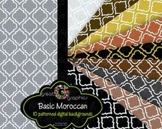 Moroccan digital backgrounds $5