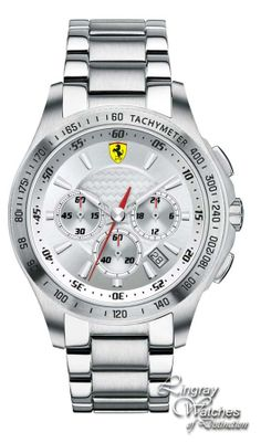 Scuderia Ferrari Mens Stainless Steel SF 105 Chrono Watch - 0830047  Online price: £350.00  www.lingraywatches.co.uk