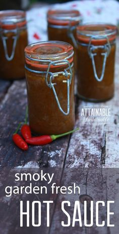 If you like the idea of having the flavor of hot peppers at hand year-round, here's one way to preserve them. This smoky hot pepper sauce is a cinch to make and you'll have that garden fresh flavor right in the fridge when you need it. It's a great replac Pesto, Hot Sauce Recipes, Real Food Recipes, Tuna Recipes, Hot Sauce Canning Recipe, Braai Recipes, Recipies, Jalapeno Recipes, Food Tips