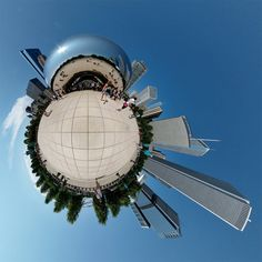 360 panoramic of millennium park in chicago and other sites from around the world.