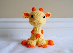 adorable hand crocheted giraffe