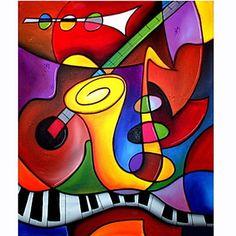 pinturas al óleo de un moderno panel de lona pintados a mano abstractos listo para colgar – USD $ 16.00