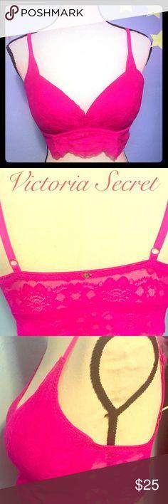 Victoria Secret Bralet Fushia colored bralette. EUC Victoria's Secret Intimates & Sleepwear Bras