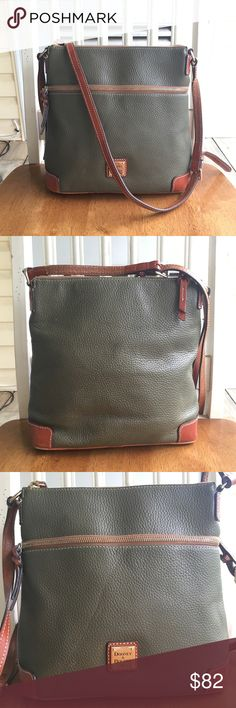 e2cd696be8ba Dooney   Bourke Olive Pebbled Leather Crossbody
