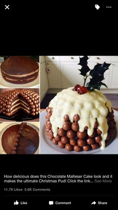 Malteser cake Xmas pudding