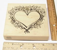 PSX LARGE HEART OF PANSIES & FLOWERS SURROUNDING A HEART K1619 Rubber Stamp   #PSX #regular