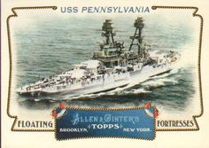 2011 Topps Allen & Ginter - Floating Fortresses #FF20 USS Pennsylvania Front