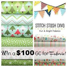 Awesome fabric giveaway by Whimsy Couture and StitchStashDiva