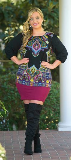 All Around Me Pencil Skirt - Burgundy - Perfectly Priscilla Boutique