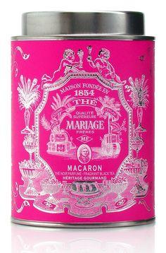 Mariage Frères [Mariage Freres] Macaron black tea blend tea tin, Paris, France